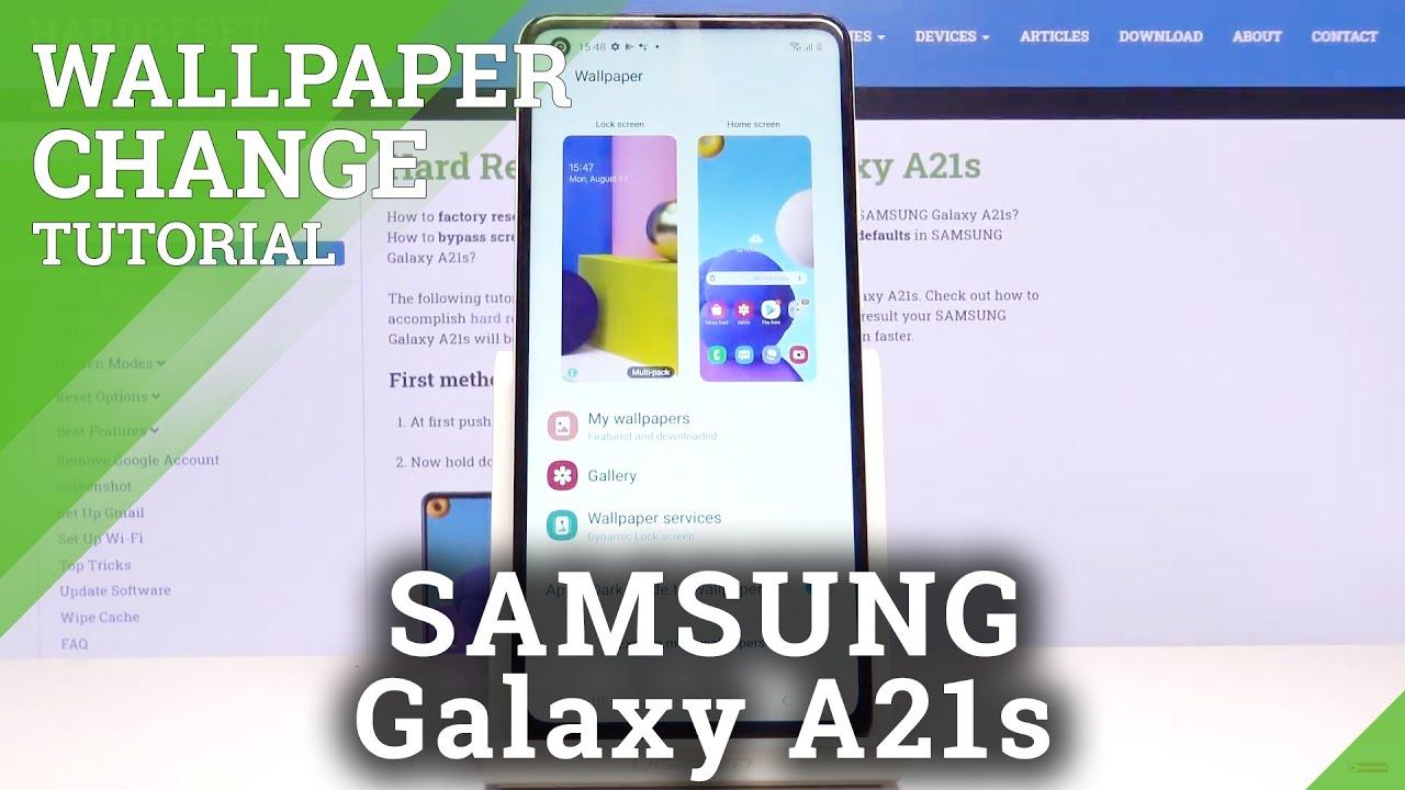 Cambiar El Fondo De Pantalla Samsung Galaxy A21s Mostrar Mas Hardreset Info
