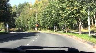 Driving in Särkiniemi citypart, Kuopio, Finland