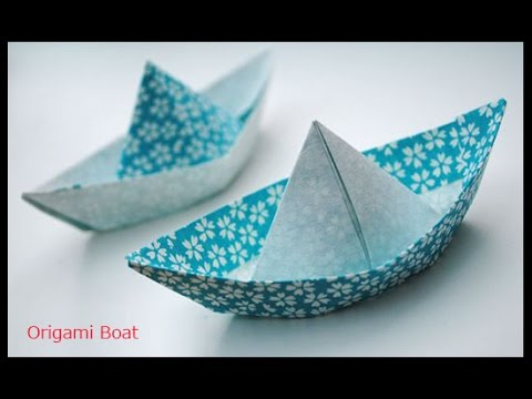How To Make A Simple Origami Boat Origami Paper Boat Youtube