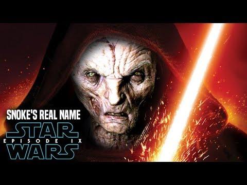 Star Wars Episode 9 Snoke's Real Name Leaked! Hint Revealed (Star Wars News)