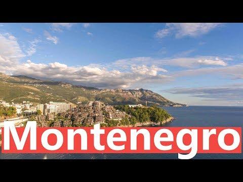 Montenegro - the coast of Adriatic Sea by drone