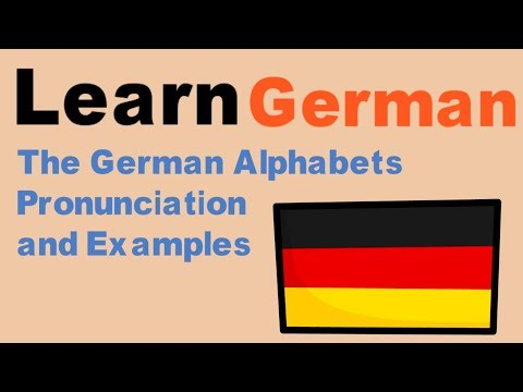 Learn German - The German Alphabets Pronunciation With Examples - Animated