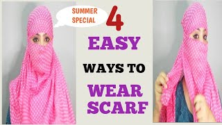 HOW TO TIE A SCARF/DUPATTA FOR SUMMER,  4 EASY NEW METHODS #scarf #tutorial #summerscarf #umavlogs