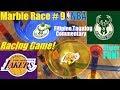 Toy Racing Game. Marble Racing, NBA Basketball Race Game. NBA Finals LA Lakers VS Milwaukee Bucks