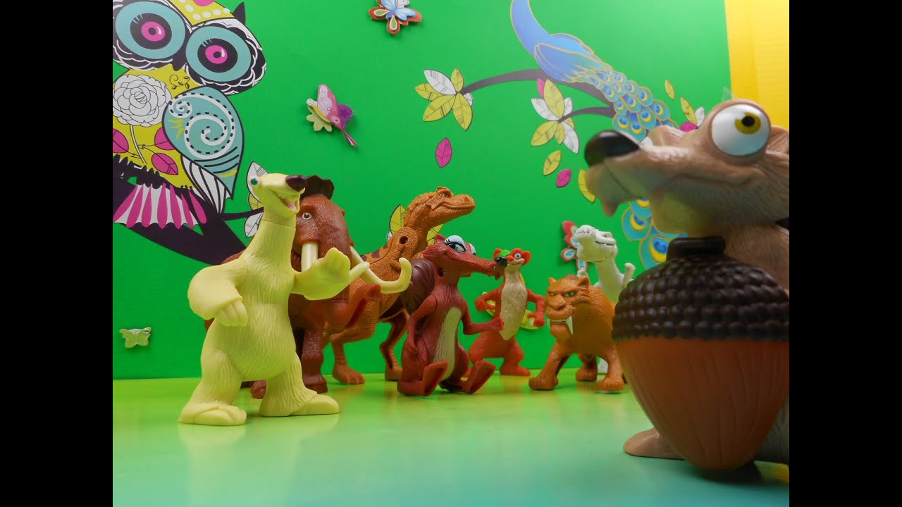 2009 Mcdonalds Ice Age Dawn Of The Dinosaurs Set Of 8 Happy Meal Toys Video Review