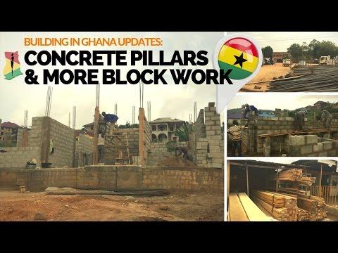 Building in Ghana Updates: Pillars & Plumbing Pipes Mess!