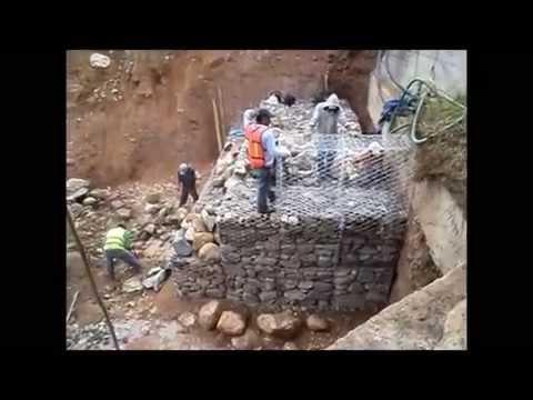 Construcci n de muro gavi n paso a paso youtube for Construccion de un vivero paso a paso