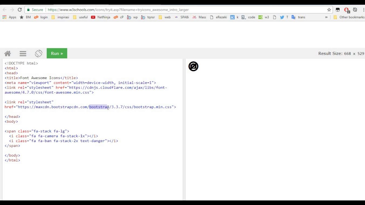 w3schools font awesome