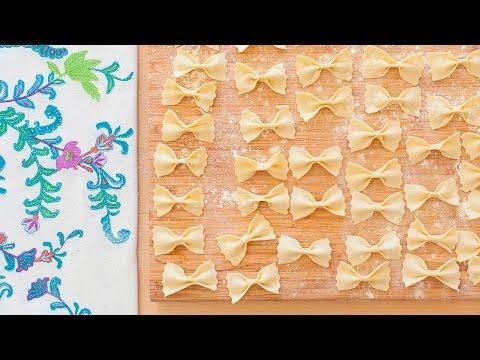 Selbstgemachte Pasta: Farfalle selber machen (Schmetterlingsnudeln)
