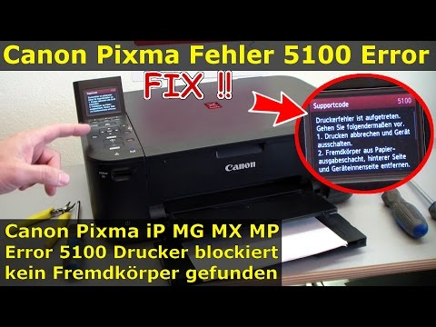 Canon Pixma error 5100 - FIX