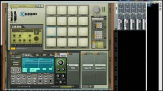 How to make a Drum kit in Kong in Reason