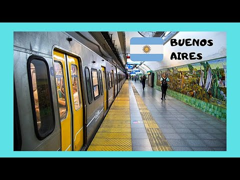 The graphic subway (metro, underground) of  Buenos Aires, Argentina
