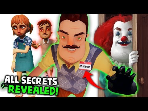 WE FOUND THE NEIGHBORS REAL NAME?! HELLO NEIGHBOR SHOCKING SECRETS REVEALED!
