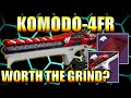 DESTINY 2   KOMODO-4FR REVIEW... IS IT WORTH THE GRIND? TIPS TO GET IT DONE FASTER!!!
