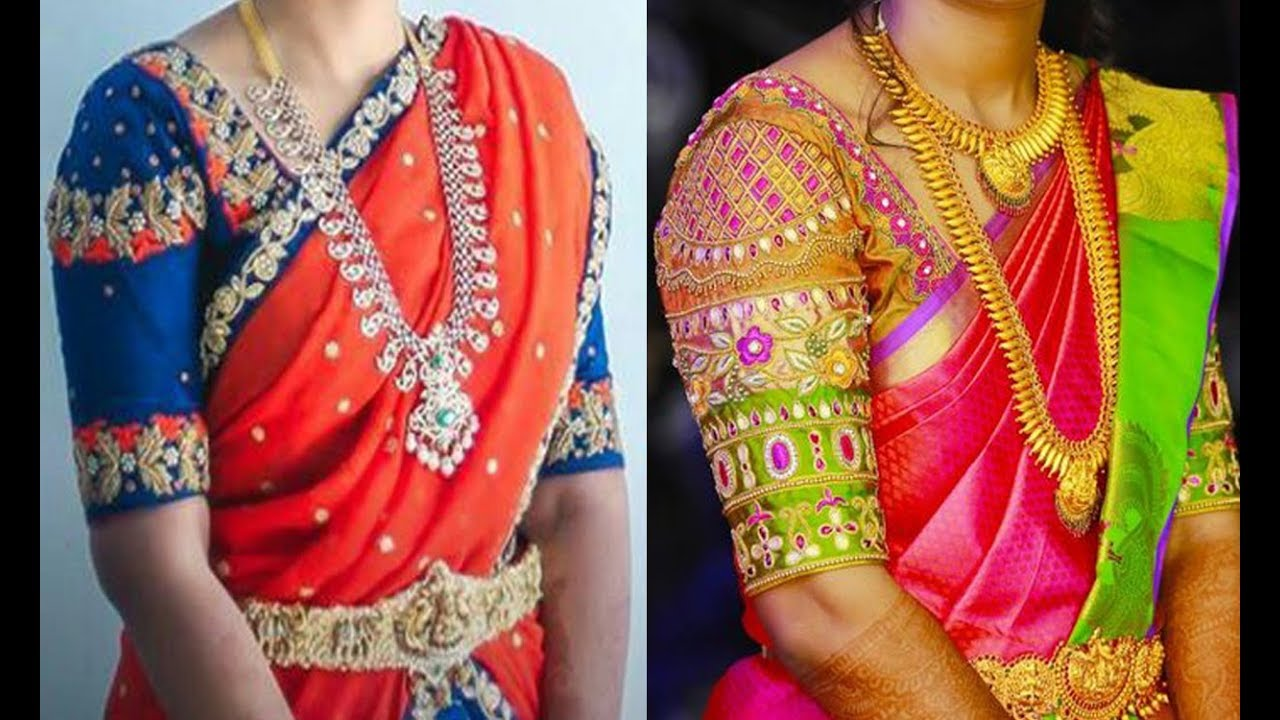 Bridal Blouse Designs 2019 Latest Images 30 Latest Simple Blouse Back Neck Designs Blouses Discover The Latest Best Selling Shop Women S Shirts High Quality Blouses
