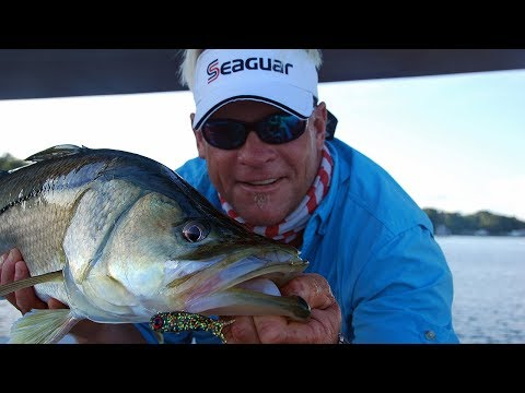 "Snook Fishing for 48"" Monster Snook in Stuart Florida"