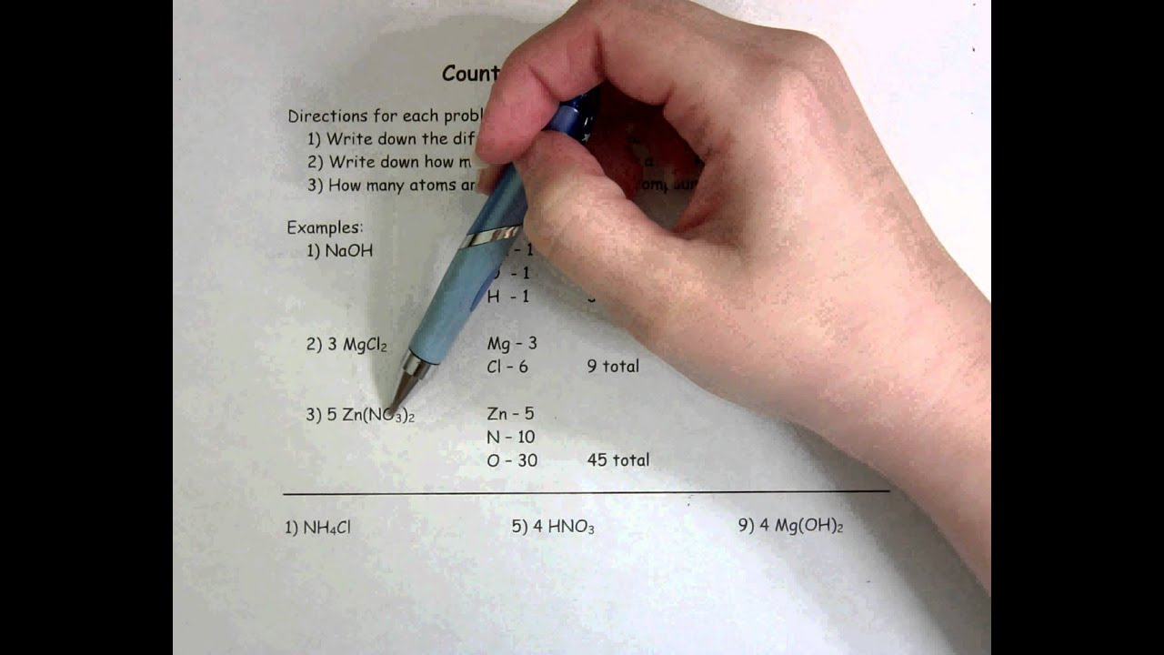 Worksheet Counting Atoms Worksheet counting atoms worksheet youtube worksheet