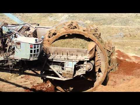 Giant Machines. The Work Bucket Wheel Excavator. Роторный экскаватор .