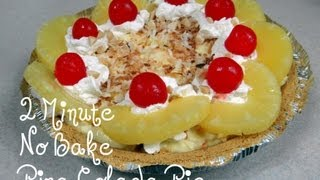 How To Make A 2 Minute No Bake Pina Colada Pie With Cookingandcrafting