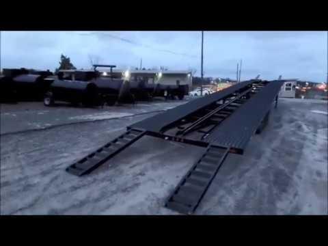Car Hauler 8 5 X 53 Black Gooseneck Wedge Trailer Youtube