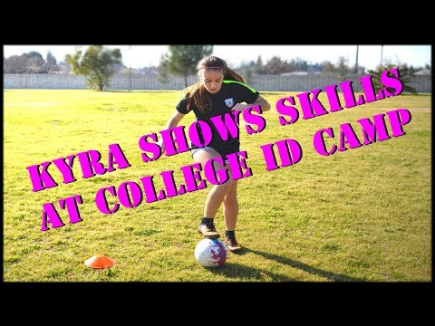 Kyra Shows Skills At College ID Camp!