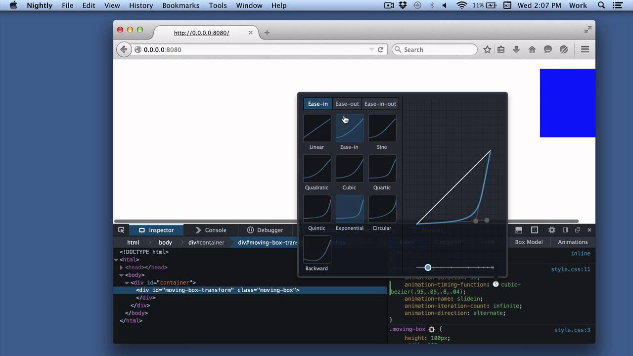 Work with animations - Firefox Developer Tools | MDN