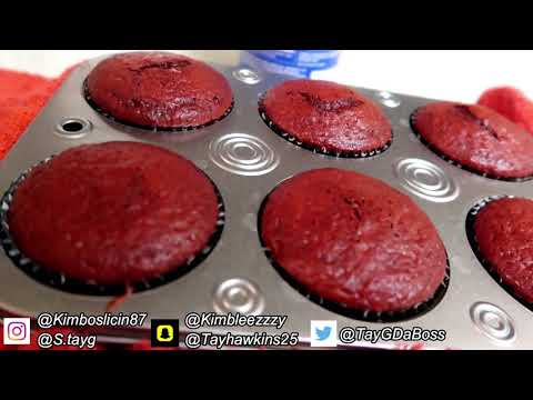 Making RED VELVET CUPCAKES with Tay and Kim!!! | Your mouth will water!! 🤤