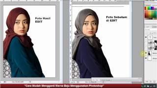 Cara Mudah Mengganti Warna Baju Dengan Photoshop