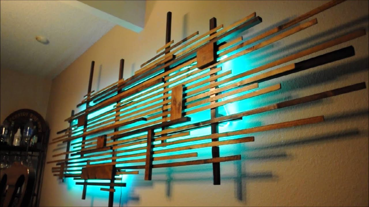 Wooden Art With Led Back Lighting Youtube