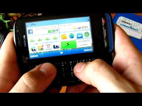 Обзор Nokia C6 Menu and camera [HD]