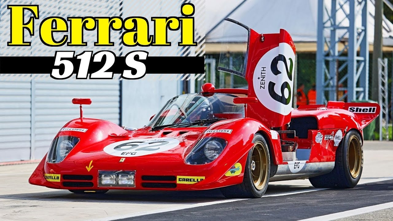 1970 Ferrari 512 S (#1004) ex Jacky Ickx - 550Hp V12 N/A Engine - Monza Historic 2019 by Peter Auto
