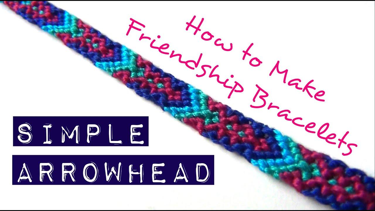 6674efa085448 How to Make Friendship Bracelets ♥ Simple Arrowhead
