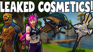 Fortnite: LEAKED COSMETIC SKINS, PICKAXES, GLIDERS AND MORE!
