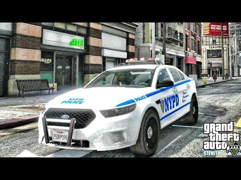GTA 5 MODS LSPDFR 0.4.1 - NYPD TAURUS PATROL!!! (GTA 5 REAL LIFE PC MOD) thumbnail