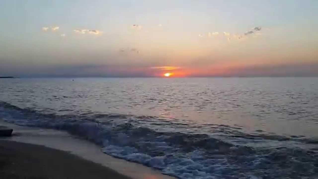 Bilgah beach sunset (Baku, Caspian sea) (HD)