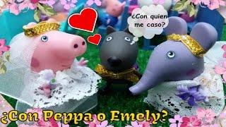 ❤ PEPPA PIG ❤ ¿ DANNY DOG SE CASA CON PEPPA PIG O EMELY ELEFANTE ? | Juguetes de Peppa Pig