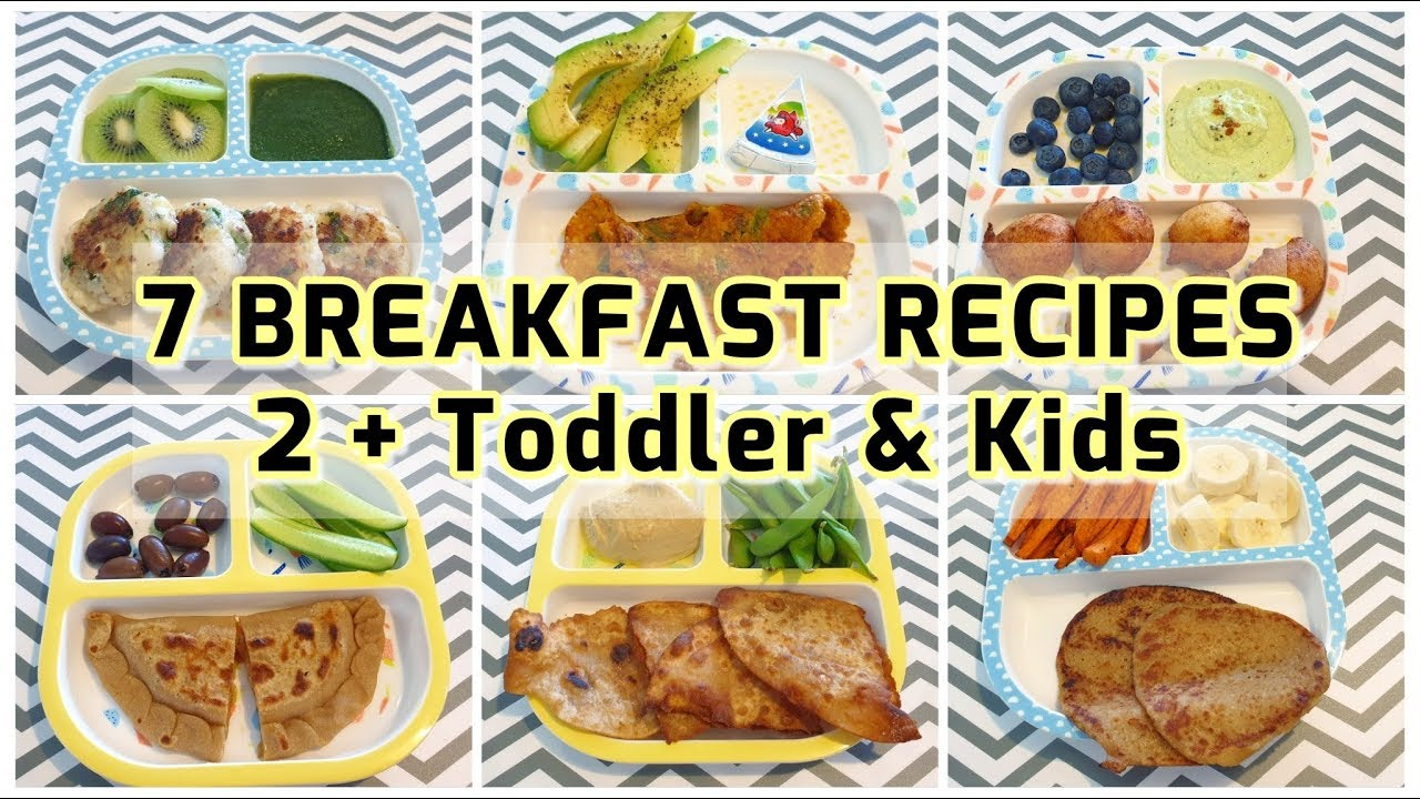 7 Breakfast Recipes 2 Toddler Kids Easy And Healthy Breakfast Ideas Indian Vegetarian Meals Youtube