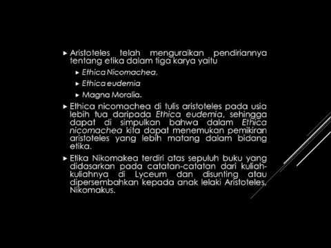 NGAJI FILSAFAT: ETIKA NIKOMAKEA ARISTOTELES (1)