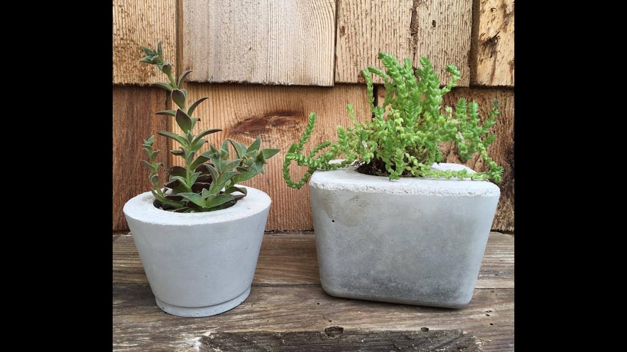 How To Make Concrete Planters Youtube