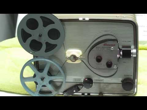 Vintage Kodak Brownie (circa 1955) 8 mm movie projector in action.