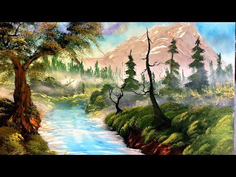 The Joy of Spray - Mountain Stream - Spray Painting Nature