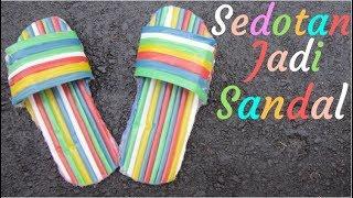 Download Video Tutorial Membuat Sandal Unik Dari Sedotan Minuman MP3 3GP MP4
