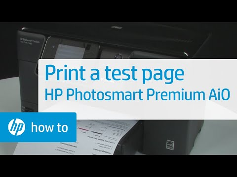 Printing a Test Page - HP Photosmart Premium All-in-One Printer (C309g) from YouTube · Duration:  1 minutes 49 seconds