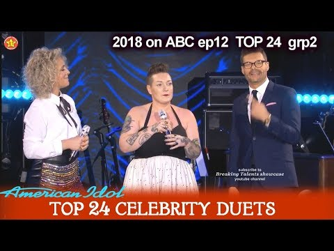 "Effie Passero and CAM Duet ""Diane""  Top 24 Celebrity Duets American Idol 2018"