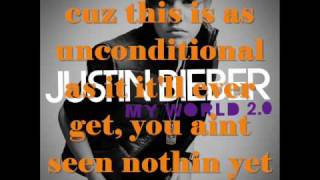 justin bieber u smile acoustic with on screen lyrics my world 2 0