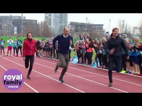 Duchess Kate takes on Prince Harry and William in an Royal relay