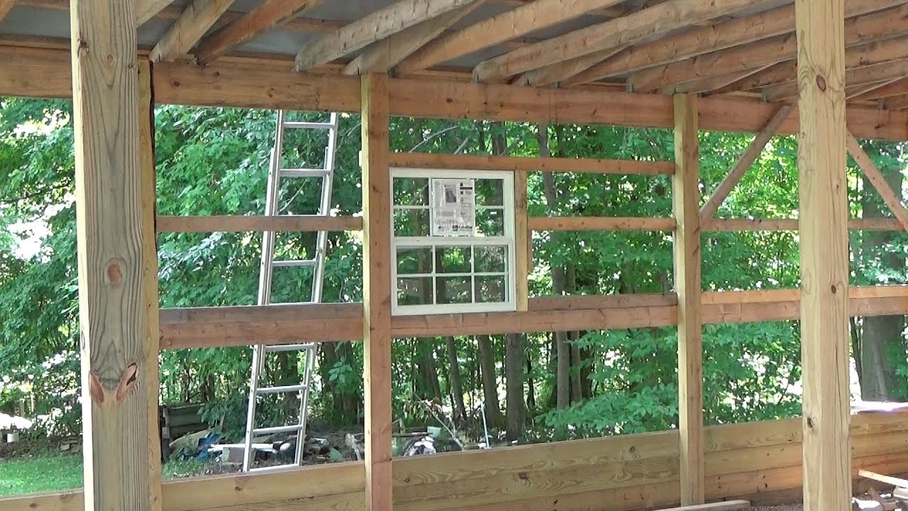 Installing Windows In A Pole Barn Youtube