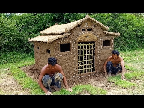 Build Wooden Mud House