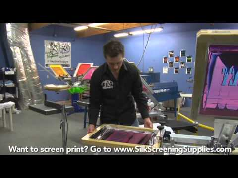 How to Screen Print - Two Color Print- Detailed instruction - Screen Printing 101 DVD pt 28