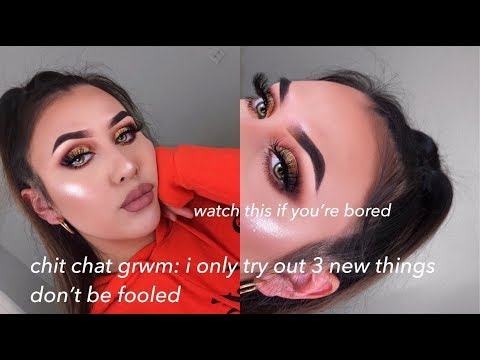 LONG CHATTY GRWM: trying out new products (watch this if you're bored)
